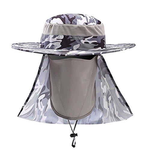 Moresave Unisex Schirmmütze Snap Brim Ohr Hals Abdeckung Camouflage Cap Sonnenschutz Hüte für Angeln Wandern