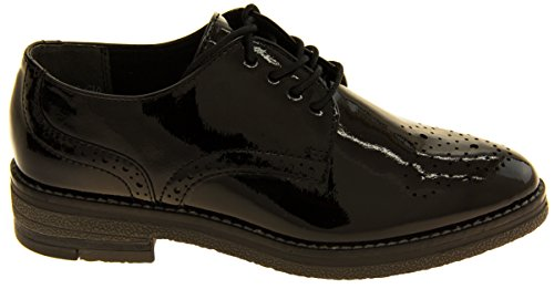 Footwear Studio donna Marco tozzi Brogue scarpe Black