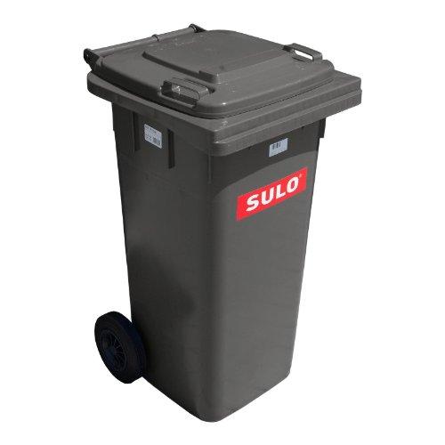 Cubo de basura 2 ruedas, contenedor a basura SULO 120 L, gris 22068