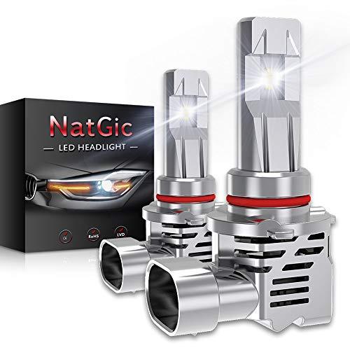 NATGIC H4 9003 HB2 Hi/Lo Lampadine per Fari a LED Kit di conversione ZES M3 Chip 1: 1 Sostituzione originale del faro alogeno 10000LM e 6500K Xenon Bianco - 2 anni di garanzia (confezione da 2)