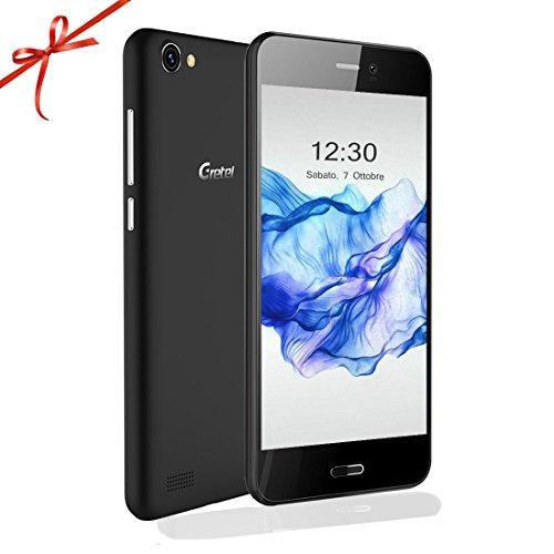 """Gretel A7 Smartphone Dual Sim 16GB [Versione Aggiornata] 3g 4.7"""" Fotocamera 8.0 M.P, Android 6.0 Quad Core 1.3GHZ, 2 Telefono Caso (Nero+ Colori Casuali), Ottimo per Anziani, studenti, papa, mama."""