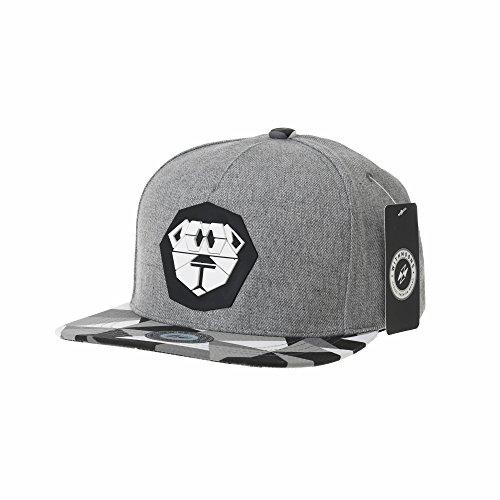 WITHMOONS Cappellini da baseball Cappello Snapback Hat Lion Paper Fold Patch Flat Brim Cap TR2938 (Grey)