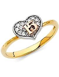 Paradise Jewelers anillo corazón quinceañera de ...
