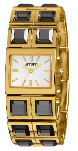 Jet Set - J43608-712 - Beverly Hills - Montre Femme - Quartz Analogique - Cadran Blanc - Bracelet Acier Doré
