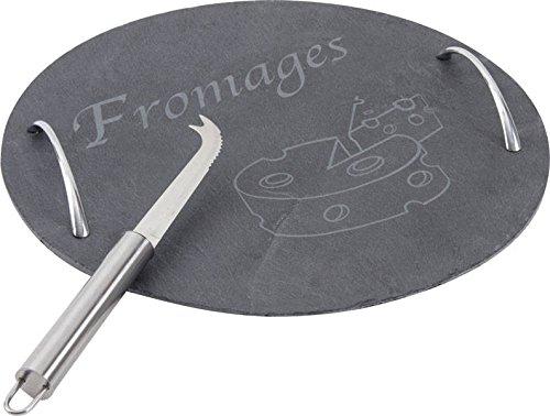 Plateau à fromages ardoise et métal