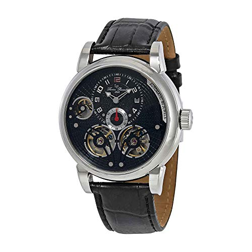 Lucien Piccard Cosmos Automatic Black Dial Mens Watch 15071-01-W