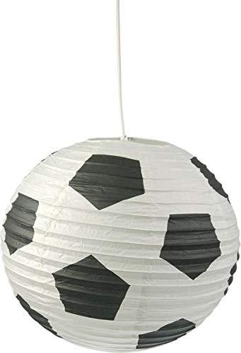 Niermann Standby Papier-Lampenschirm, weiß-schwarz, 40 x 40 x 40 cm (Schwarzes Papier-lampenschirm)