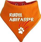 KLEINER FRATZ Gestreiftes Hunde Wende- Halstuch (Fb: Orange-Fuchsia) (Gr.3 - HU 36-42 cm) Rudelaufpasser