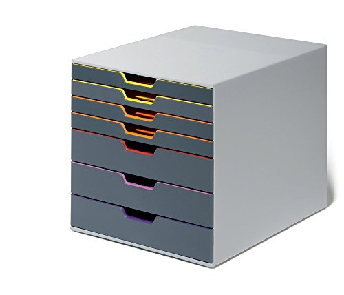 Durable 760727 Schubladenbox (Varicolor) 7 Fächer mehrfarbig 7 Kunststoff Schubladen