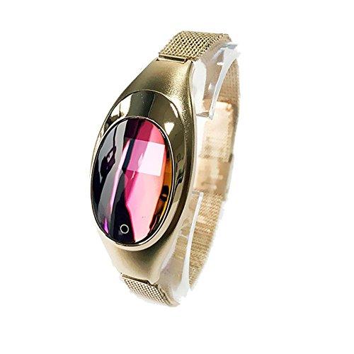 DDUWIN Fashion Damen Fitness Activity Tracker Smart bluetooth Handgelenk Schrittzähler Armband Sport Analyse Armbanduhr für Android und IOS Armband, gold