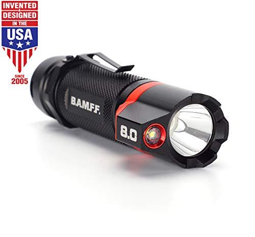 Striker Hand Tools 00341 BAMFF 8.0-800 Lumen Taktische, Aufladbare und Duale LED Taschenlampe, schwarz/red, Einheitsgröße -