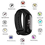MECH76 M3 Smart Band Fitness Tracker Watch Heart Rate Band with Activity Tracker