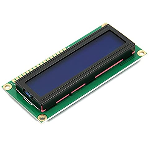 WINGONEER 5V 1602 16x2 LCD Character Display Module Bleu Blacklight