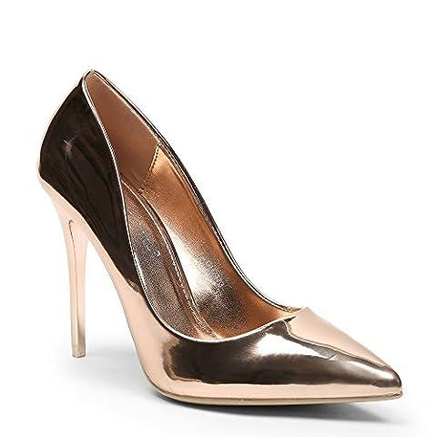 Escarpins Dores - Ideal Shoes - Escarpins classiques vernis Taly