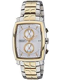 Titan Chronograph White Dial Men's Watch - 1660BM01