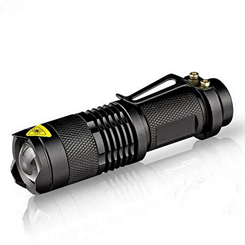 Waterproof Led Flashlight Q5 2000lm 3 Modes Zoomable Hot sale no tazer shock Mini Flash Light Torch Penlight