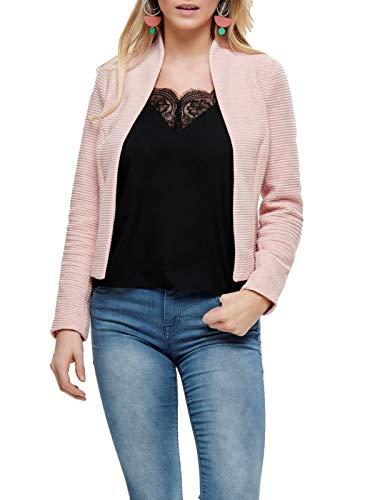 ONLY Damen Anzugjacke onlLINK Ricks L/S Blazer CC TLR, Rosa (Rose Smoke Detail:Melange), (Herstellergröße:40)