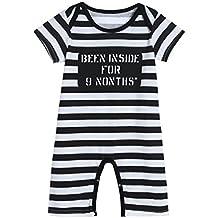 SMARTLADY Niño Bebé Bodies Pijama de manga corta