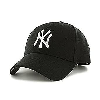 Starstep Cotton Baseball NY Logo Black Cap for Men and Women