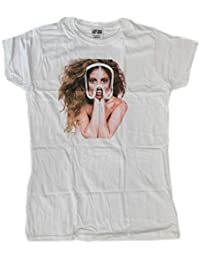 Pop Concert T-shirt New: LADY GAGA Streaked Red Born This Way Juniors Fitted