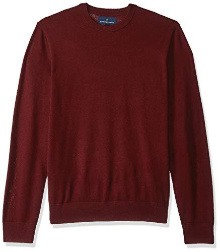 Buttoned Down Herren Leichter Cash-Wolle-Pullover aus Italienischer Merinowolle, Rot(Burgundy), M - Wolle Italienische Herren-kleid