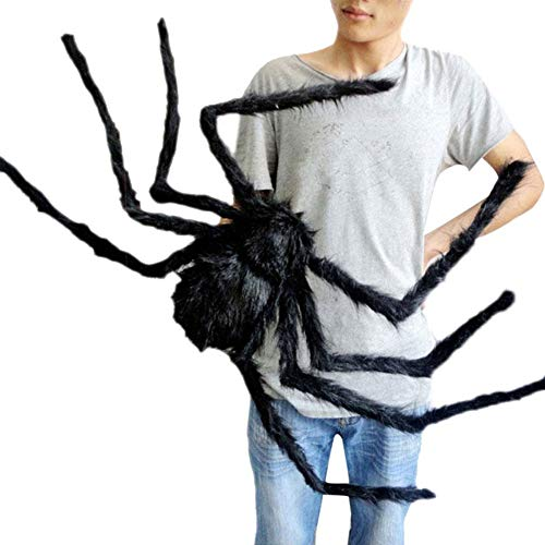 ILOVEDIY Halloween Spinne Deko Partydeko 30cm 75cm 125cm (125cm, Schwarz)