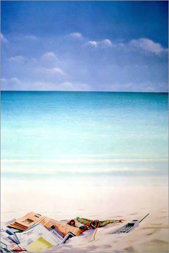 Poster 80 x 120 cm: Sonne, Strand und Geld I von Lincoln Seligman/Bridgeman Images - hochwertiger Kunstdruck, neues Kunstposter