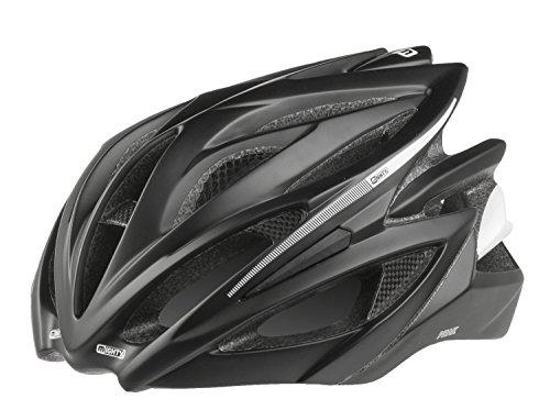 Mighty Peak Fahrradhelm, Schwarz/Carbon, L/58-62 cm