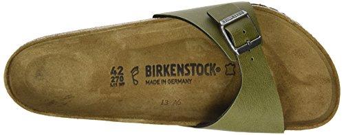 Birkenstock Madrid, Mules Homme Vert (Pull Up Olive)