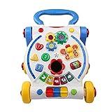 Lauflernhilfen,ab 0-36 Monate Babys Spielzeug Tisch Multifunktion Anti-Rutsch Ergonomisches Design Spiel Activity Auto Fur Babys Baby walker (Farbe : Blau)