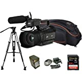 Kit Camcorder GY-HM200 JVC 4K Ready CMOS 1/2 - WIFI Ottica 12x stabilizzata HDMI output 4K Ultra HD + 1 Battery + 1 Battery charger + 1 Memory Card Sandisk 64Gb - 95Mb + Bag + Tripod