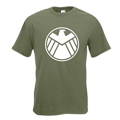 KIWISTAR - Agents of S.H.I.E.L.D. T-Shirt in 15 verschiedenen Farben - Herren Funshirt bedruckt Design Sprüche Spruch Motive Oberteil Baumwolle Print Größe S M L XL XXL Olive