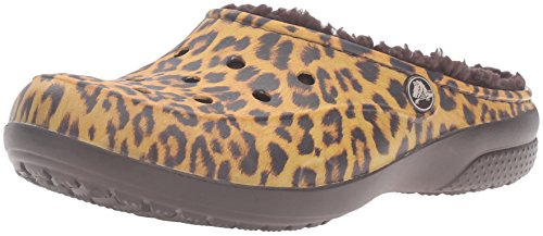 crocs Freesail Graphic Lined, Zoccoli Donna Multicolore (Leopard)