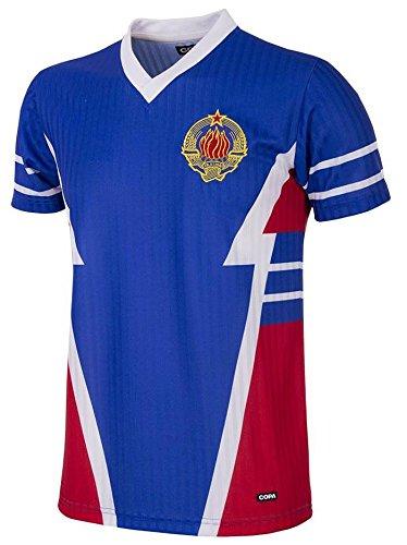 Copa Jugoslawien Retro Trikot 1990 blau blau, S