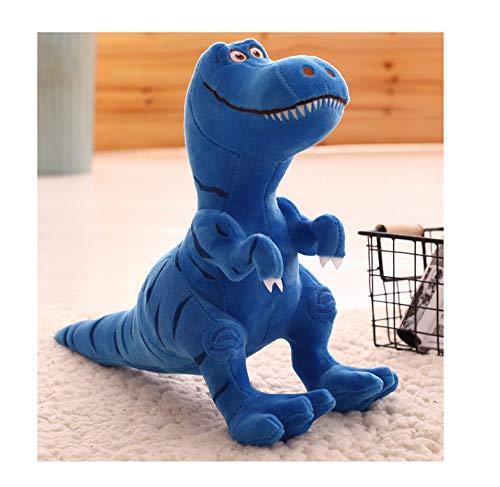 shenghai Plüschtier Dinosaurier Plüsch Spielzeug Puppe Süße Puppe 30cm Weiche Geruchlose Kind Geschenk 28 x 40cm blau (16x28 Kissen Legen)
