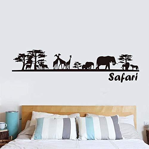 Safari Schöne Landschaft Tiere Wandaufkleber Für Kinderzimmer Dekoration Abnehmbare Diy Wandtattoos Poster Tapete Wohnkultur 59x15 cm