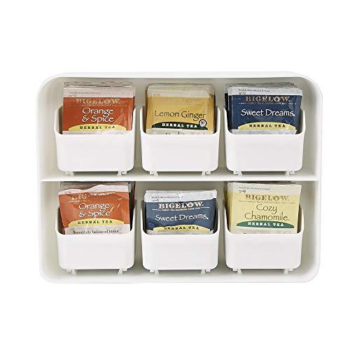 Mind Reader \'Clutch\' Titolare Bustina di Tè e Condimento Organizzatore per 90 Bustine di Tè