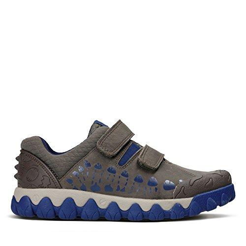 Clarks Tyrex Walk Inf, Sneakers Basses Garçon - Marron - Marron, 31G EU Enfant