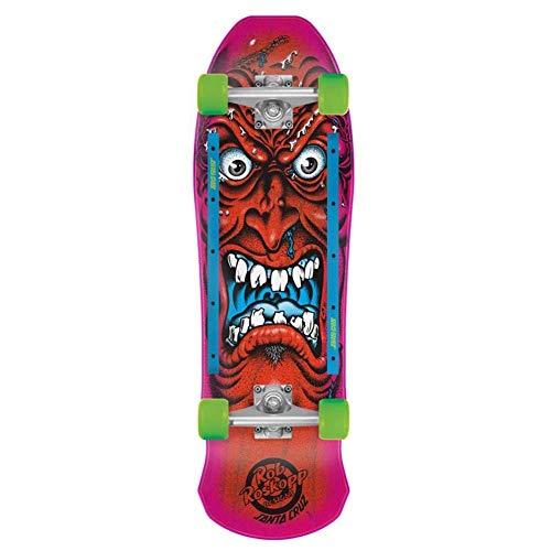 Santa Cruz Skateboard Completo Roskopp Viso Rosso 24,1 x 78,7 cm Old School
