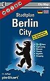 Berlin City 1 : 10.000 Stadtplan: Zentrumkarte mit 30 Sightseeing-Tipps, ÖPNV-Plan, Museen, Theater, Brauhäuser, Bars