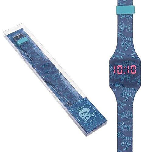 DCASA Reloj De Pulsera Digital Dinos Pared, Adultos Unisex, Multicolor, Unico