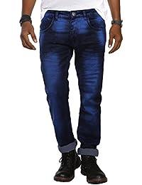 JUGEND Dark Blue Stretchable Regular Fit Jeans for Men