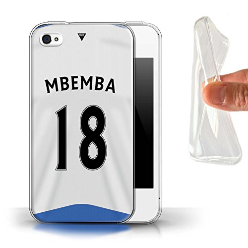 Offiziell Newcastle United FC Hülle / Gel TPU Case für Apple iPhone 4/4S / Pack 29pcs Muster / NUFC Trikot Home 15/16 Kollektion Mbemba