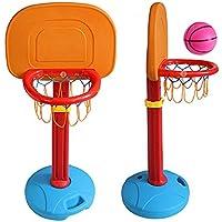 JFJL Kids Basketball Hoop Toddlers Toys - Stands Y Objetivos De Baloncesto Ajustables, para Uso En Interiores, Al Aire Libre, con Red Y Mini Bola, 3 Niveles De Altura Ajustable hasta 160 Cm