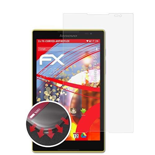 atFolix Schutzfolie passend für Lenovo TAB S8 Folie, entspiegelnde & Flexible FX Bildschirmschutzfolie (2X)