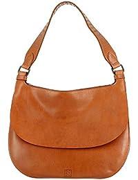DuDu - Bolso mochila  de Piel para mujer Beige beige compact