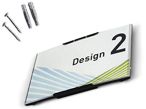 Modulex Messenger 93x157mm Büro Türschild E63500600 | Aluminium und Spritzguss Polycarbonat in Anthrazit | nicht-reflektierende Frontscheibe | Büroschild | Wandschild