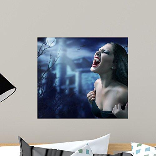 Wandaufkleber Vampir, abziehbar, 45,7 x 40,6 cm ()