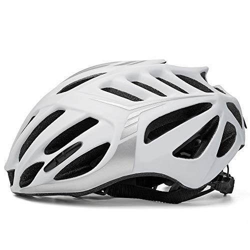 QRY Fahrradhelm Rennrad Integrierte Formung Reitsport Helm Männer Und Frauen Schutzhelm Glückliches Leben (Farbe : White)