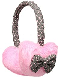 Heart Shape with Bows Winter Thermal Fashion Earmuffs